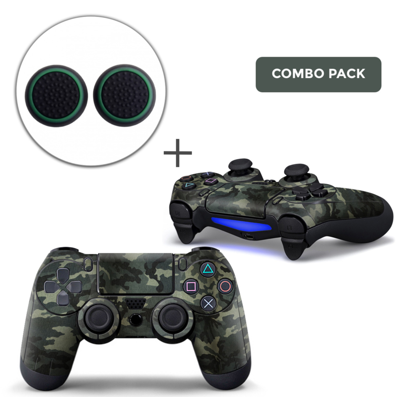 Army Camo Warsaw Skins Grips Bundle - PS4 Controller Combo Packs