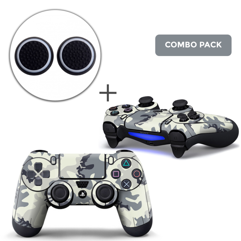 Army Camo White Skins Grips Bundle - PS4 Controller Combo Packs
