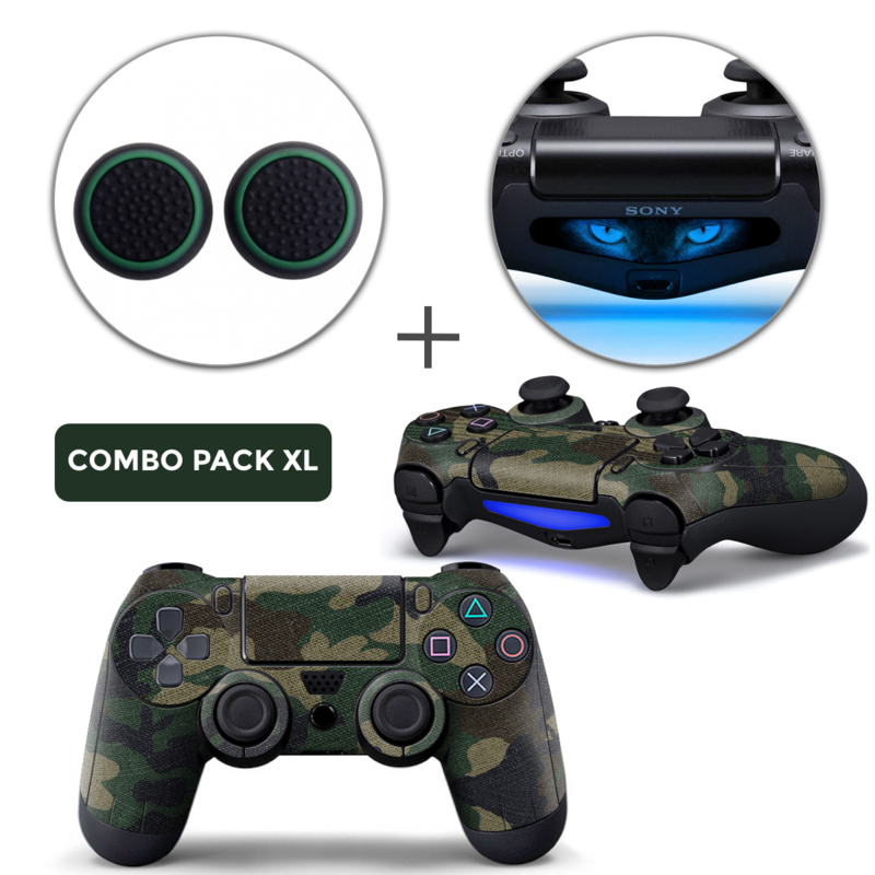 Army Camo Skins Grips XL Bundle - PS4 Controller Skins