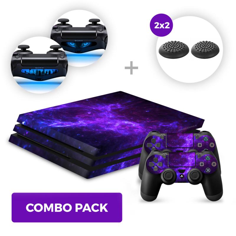 Dark Galaxy Skins Bundle - PS4 Pro Combo Packs