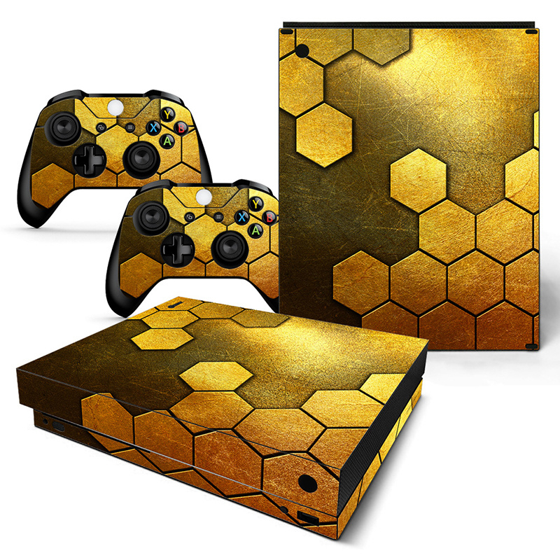 Steel Gold - Xbox One X Console Skins