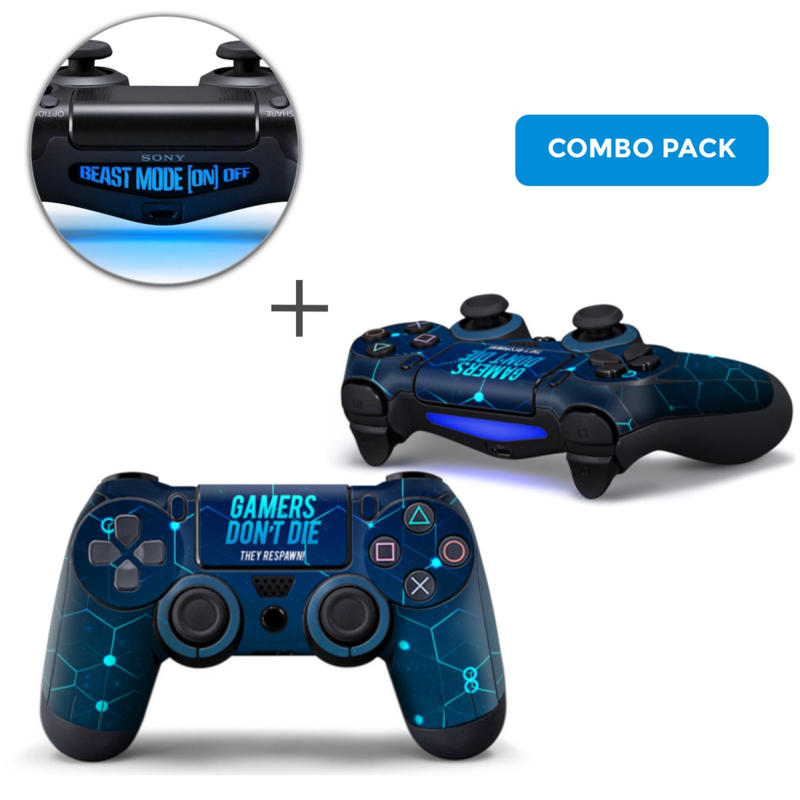 Gamers Skins Bundle - PS4 Controller Combo Packs