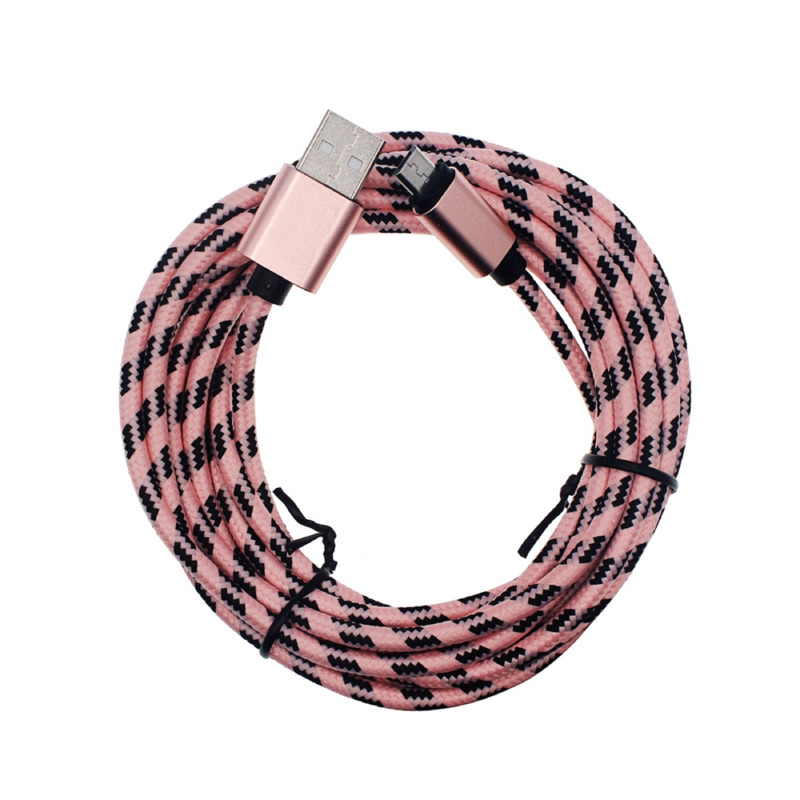 3 Meter Pink with Black - Charging Cable