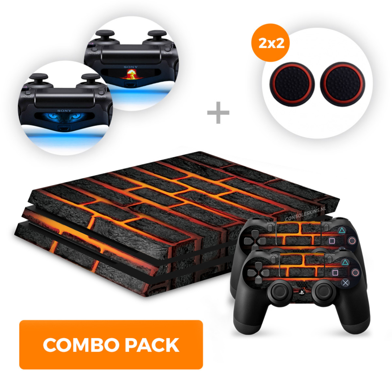 Lava Brick Skins Bundle - PS4 Pro Combo Packs