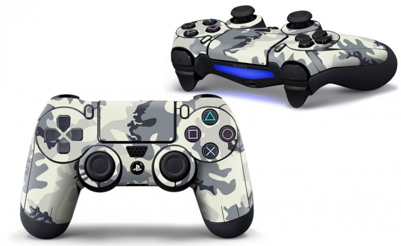 Army White - PS4 Controller Skins