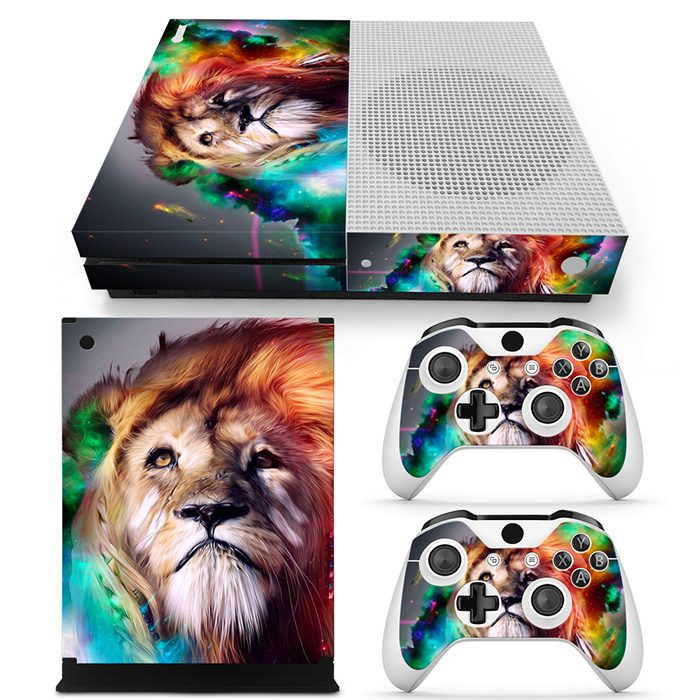Lion Abstract - Xbox One S Console Skins