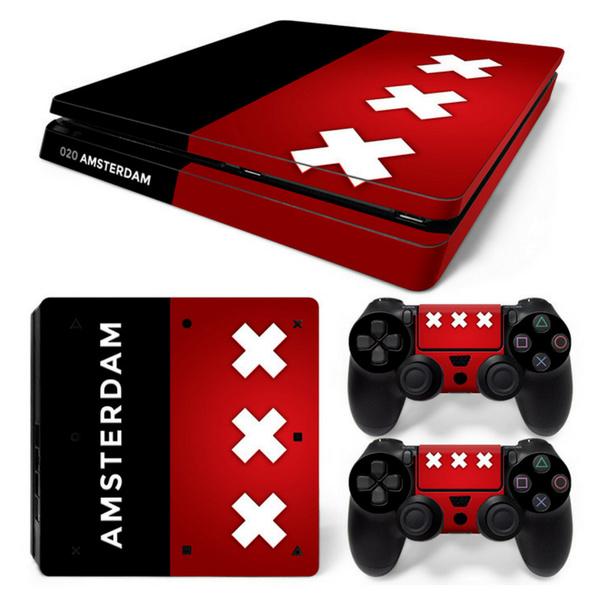 Amsterdam Premium - PS4 Slim Console Skins