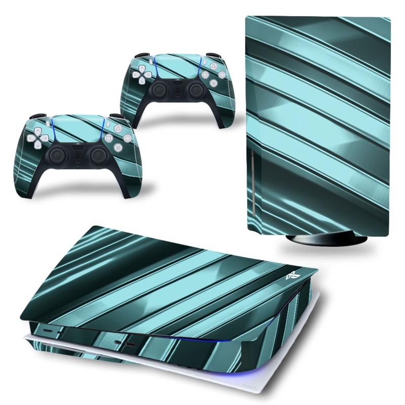 PS5 Console Skins - Metal Twirl Grijs / Groen