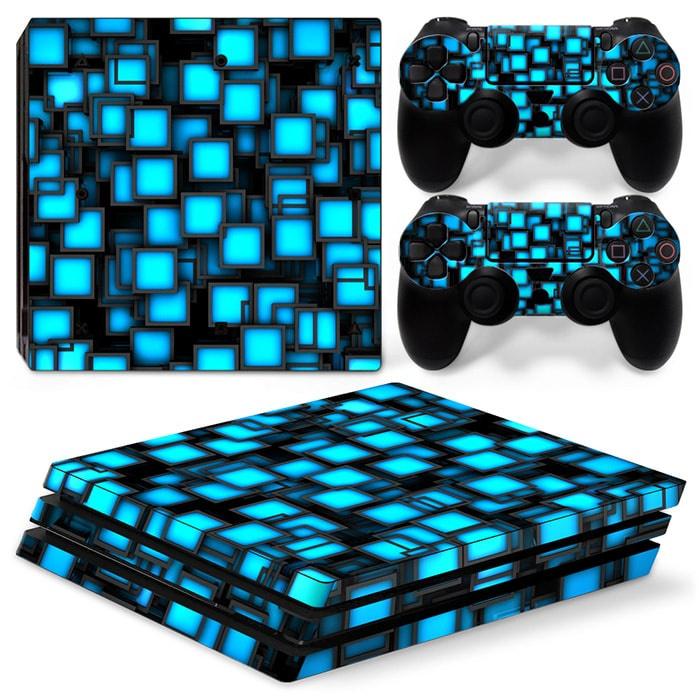 Blue Boxes - PS4 Pro Console Skins