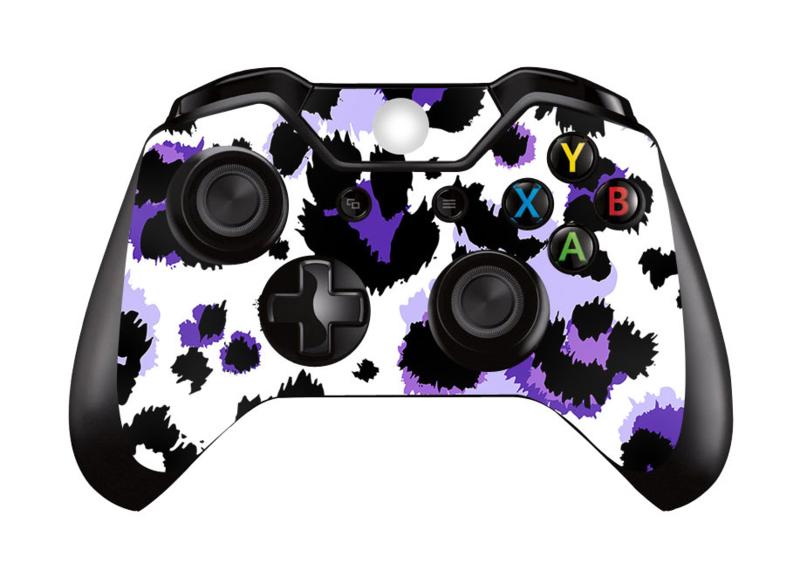 Luipaard Print Paars - Xbox One Controller Skins