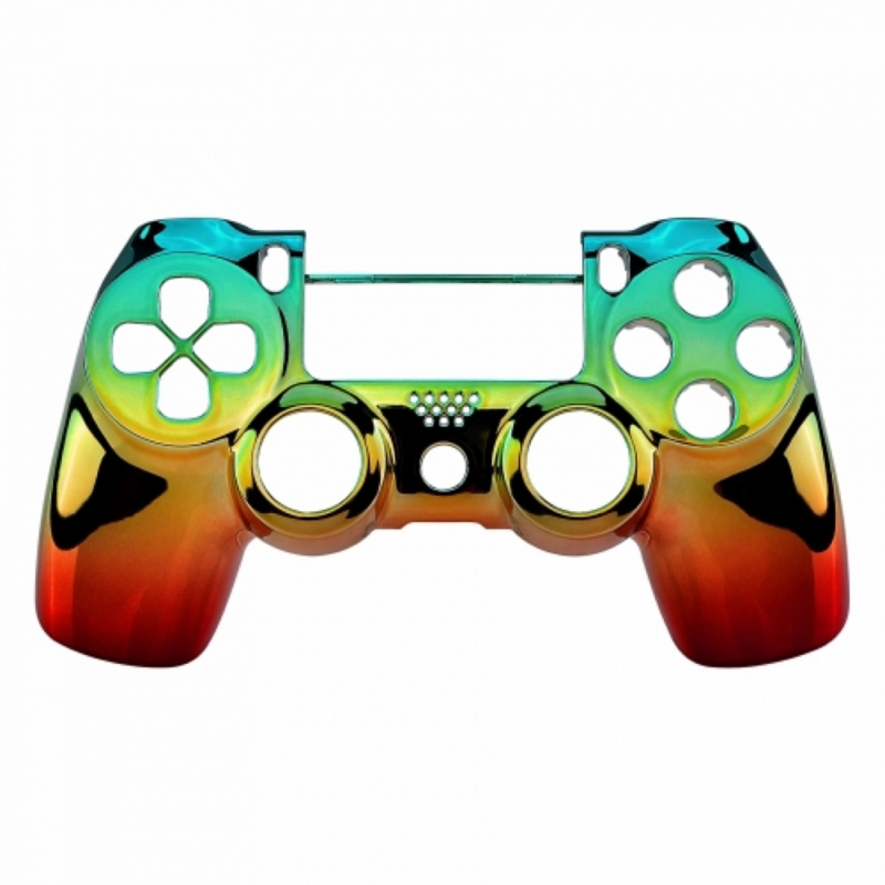 Chrome Groen Goud Rood (GEN 4, 5) - PS4 Controller Shells