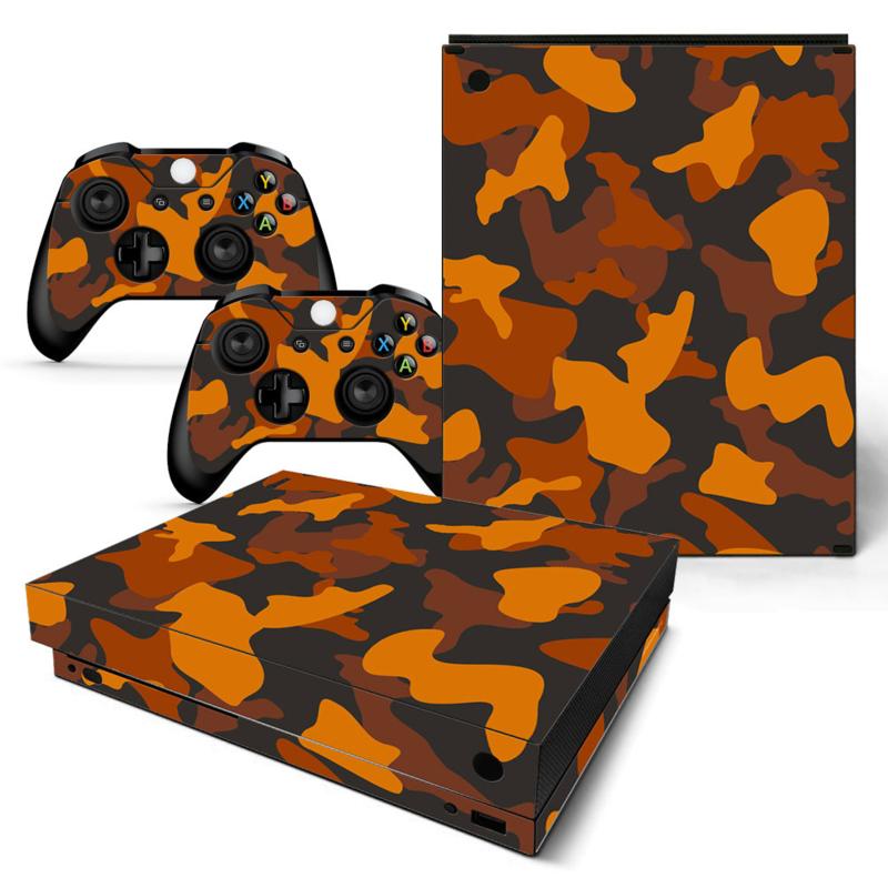 Army Camo Oranje Zwart - Xbox One X Console Skins