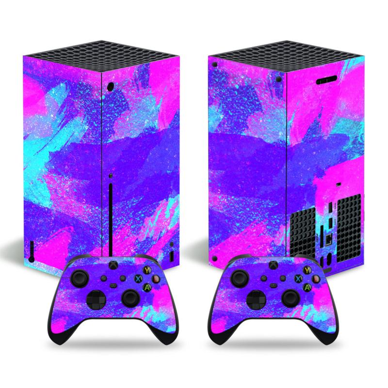 Grunge Neon Sky Bright - Xbox Series X Console Skins