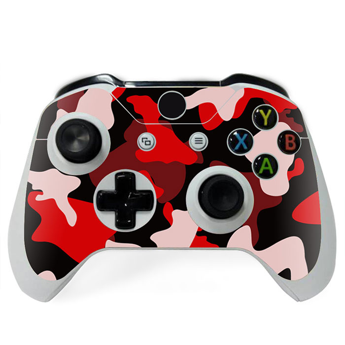 Army Camo Rood Zwart - Xbox One Controller Skins