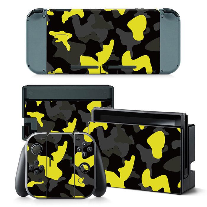 Army Camo Yellow Black - Nintendo Switch Skins