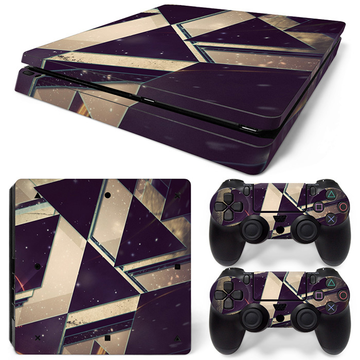 Purple White Abstract - PS4 Slim Console Skins
