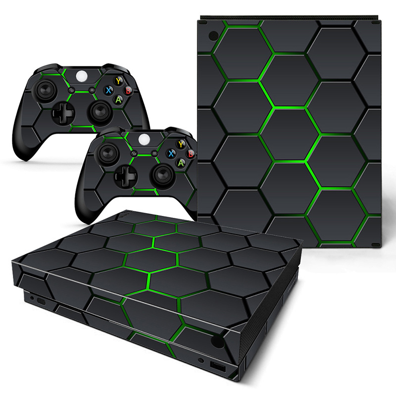 Hex Lime - Xbox One X Console Skins
