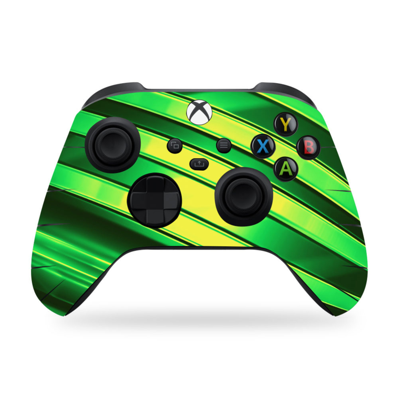 Xbox Series Controller Skins - Metal Twirl Neon Groen
