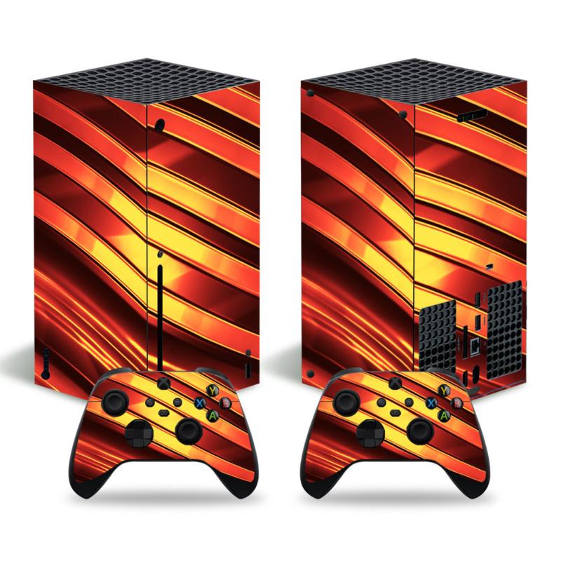 Metal Twirl Oranje - Xbox Series X Console Skins