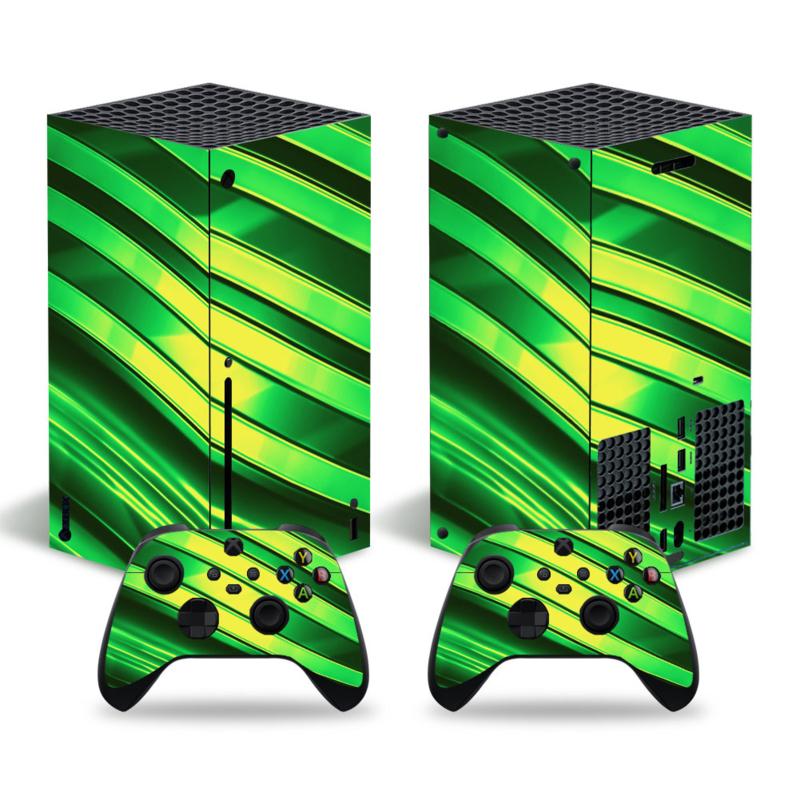 Metal Twirl Neon Groen - Xbox Series X Console Skins
