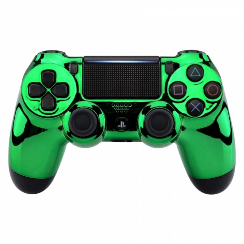 Chrome Groen - Custom PS4 Controllers V2