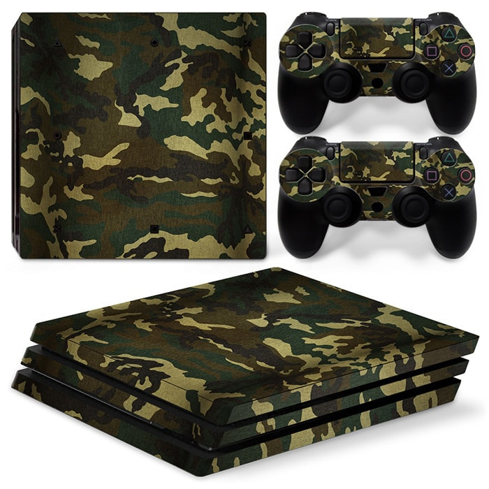 Army Camouflage Flora - PS4 Pro Console Skins