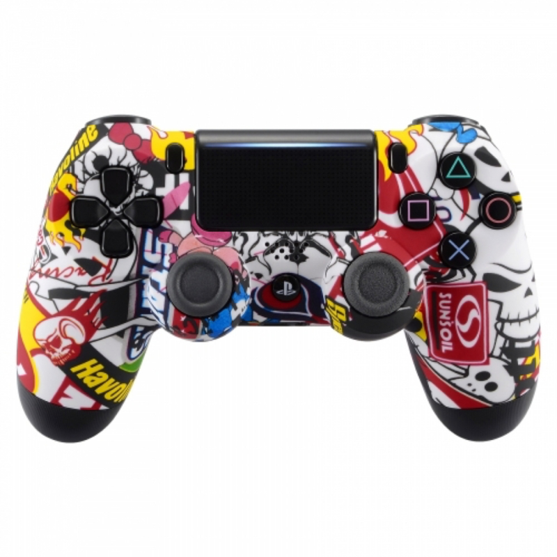 Sony DualShock 4 Controller PS4 V2 - Stickerbomb Custom