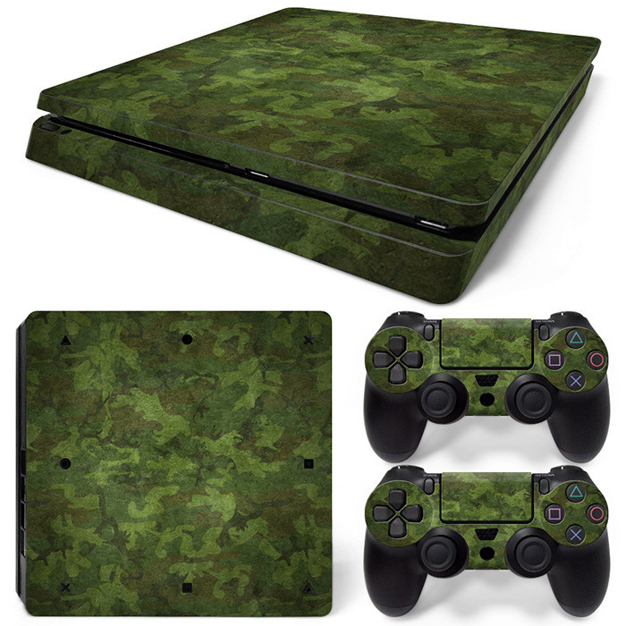Army Camouflage Woodland - PS4 Slim Console Skins