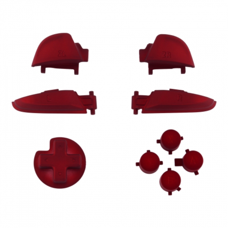NS Buttons - Rood Soft Touch - Pro Controller Buttons