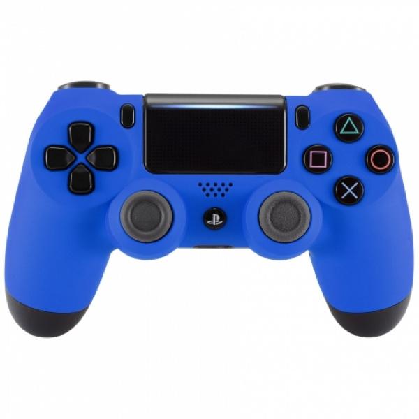 Sony DualShock 4 Controller PS4 V2 - Soft Touch Blauw Custom