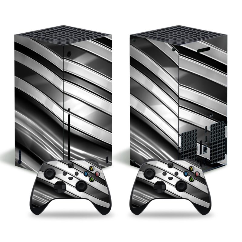 Metal Twirl Zwart Wit - Xbox Series X Console Skins
