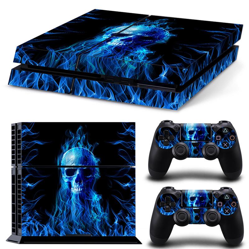 Blue Skull Premium - PS4 Console Skins