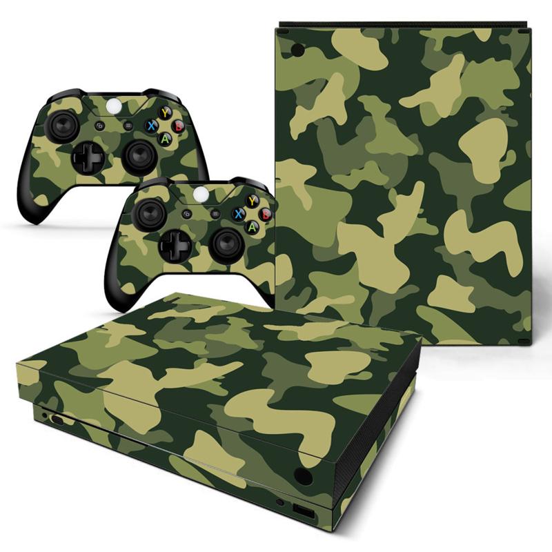 Army Camo Groen Zwart - Xbox One X Console Skins