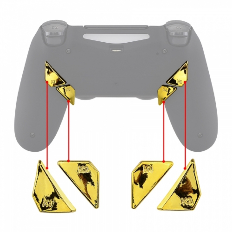 Goud Chrome - PS4 PRO eSports Back Buttons