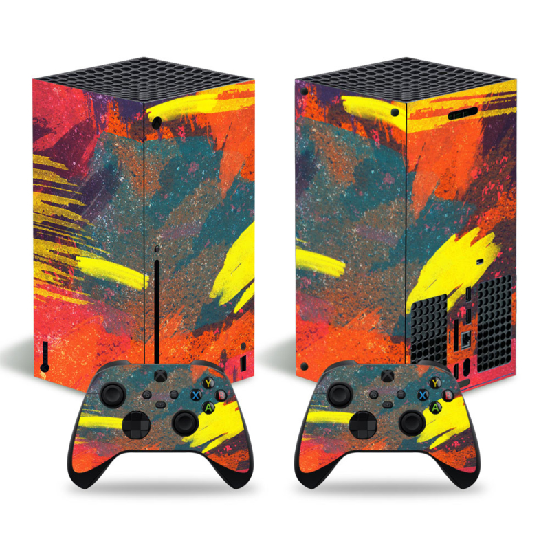 Grunge Neon Donker - Xbox Series X Console Skins