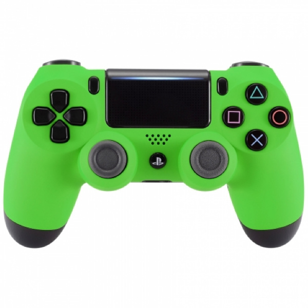 Soft Touch Groen - Custom PS4 Controllers V2