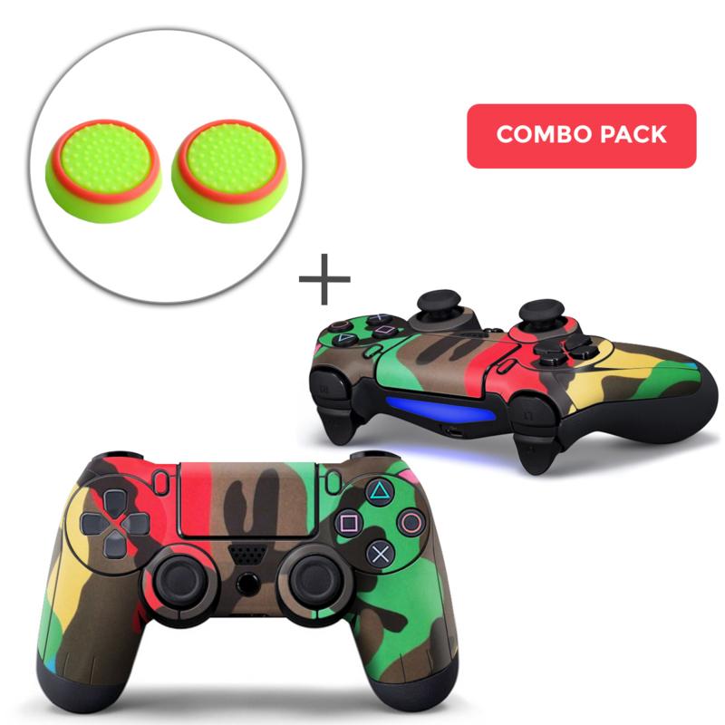 Army Camo Mix Skins Grips Bundle - PS4 Controller Combo Packs