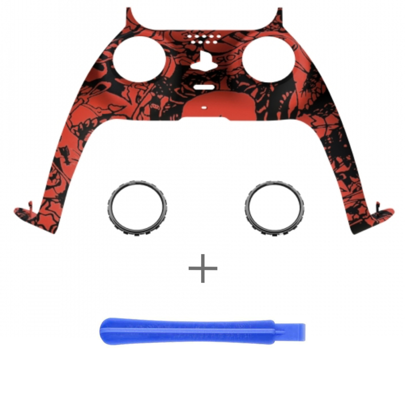 PS5 Controller Behuizing Shell - Red Skull - Cover Shell