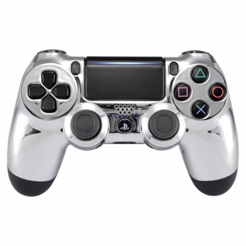 Chrome Zilver - Custom PlayStation PS4 Wireless Dualshock 4 V2 Controller