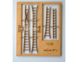 set 4 ladders HO 1:87