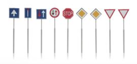 387 263 NL borden: verkeersborden (9 stuks) HO 1:87
