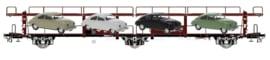 EX 20011 autotransportwagen NS LACS met 4 stuks Saab 92 HO