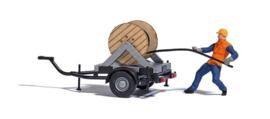 BU 7836 set kabeltrekker met aanhangwagen HO
