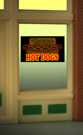 Etalage reclameverlichting 9100   Nathan's Hot Dog HO