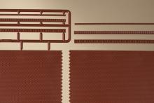 41205 Bakstenen muren met sierlijsten HO