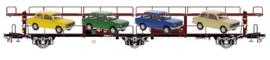 EX 20559 autotransportwagen NS LACS Van Doorne met 4 stuks DAF 66 HO