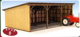 JW 70209 Voertuigstalling hout schaal O 1:43