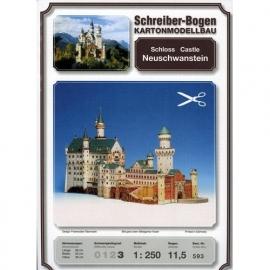 Bouwplaat SB 593   Schloss Neuschwanstein