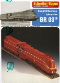 Bouwplaat SB 72467   Stoomloc BR 03 10