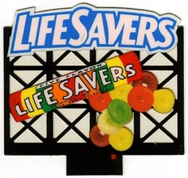 Reclamebord 44-0852   LifeSavers HO